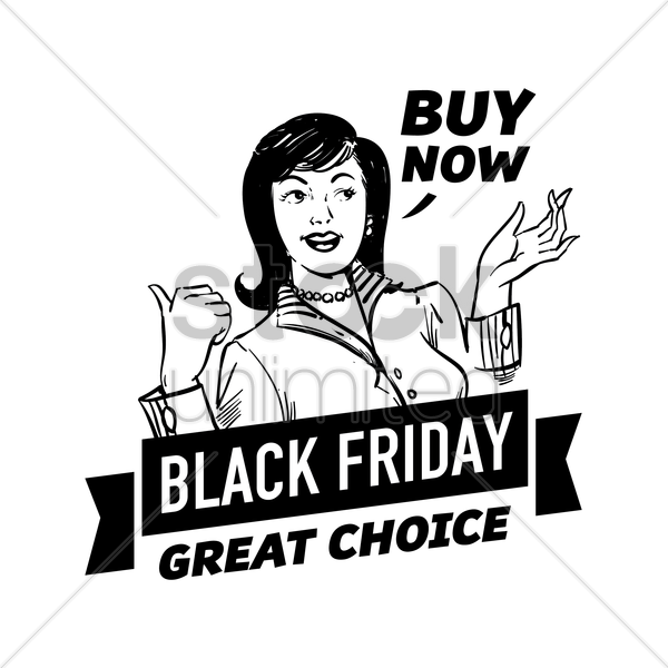 black friday design vector graphic
