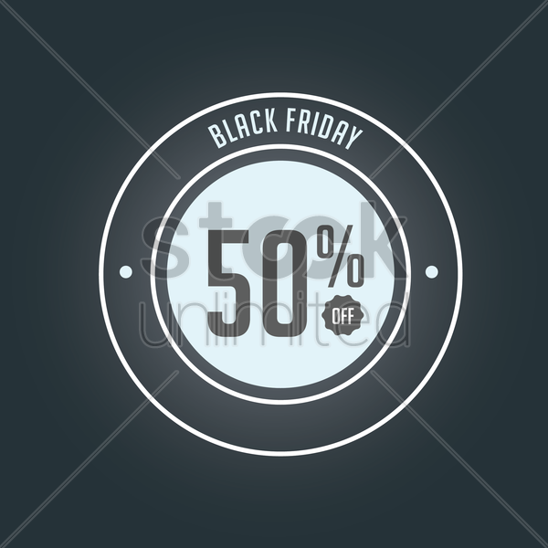 black friday offer design vector graphic