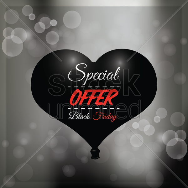 black friday sale balloon vector graphic