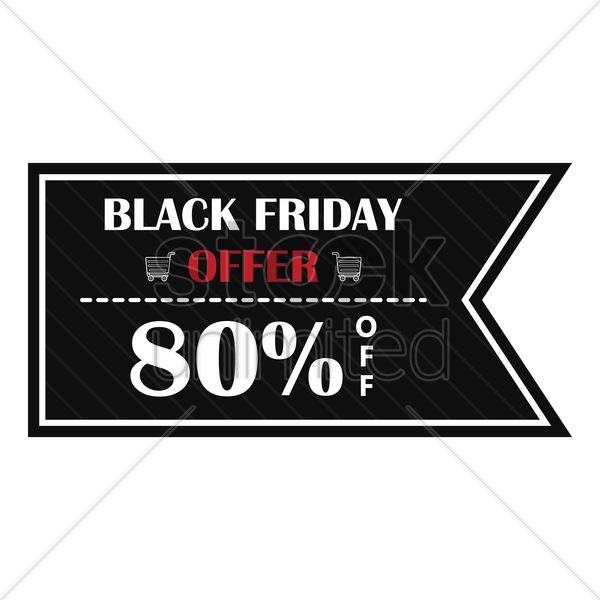 black friday sale banner vector graphic
