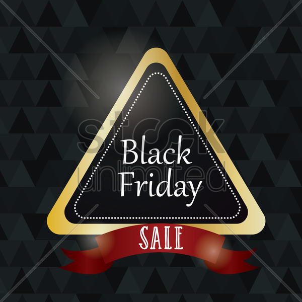 black friday sale label vector graphic