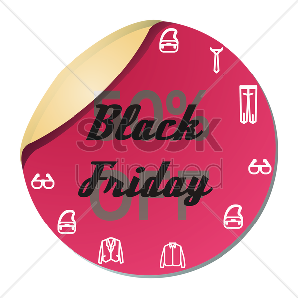 black friday sale sticker vector graphic