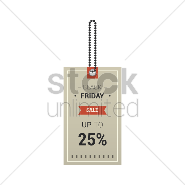 black friday sale tag vector graphic
