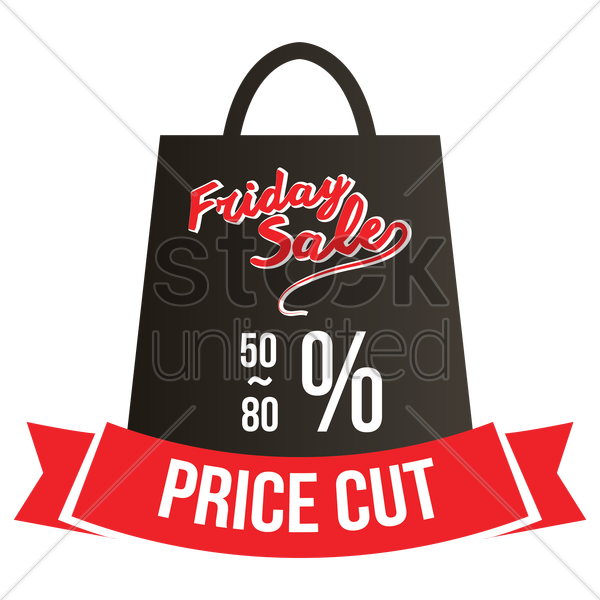 black friday sale vector graphic