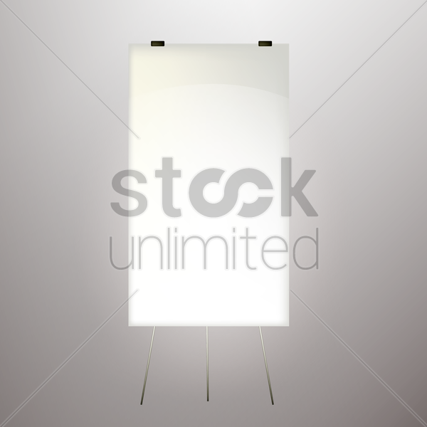 blank advertising billboard vector graphic