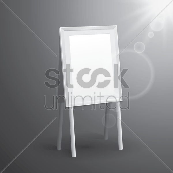 blank bill board vector graphic