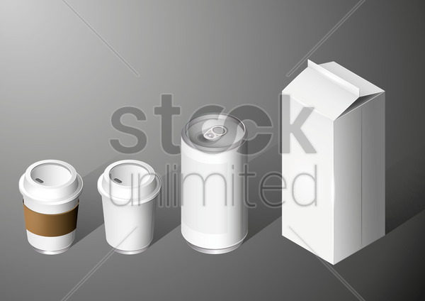 blank packaging collection vector graphic