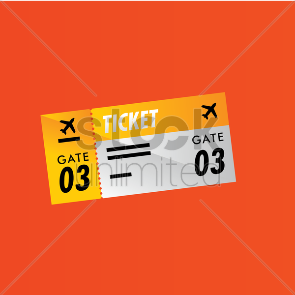 boarding pass vector graphic