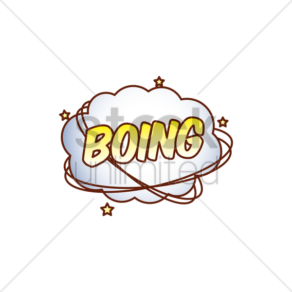 boing comic speech bubble vector graphic