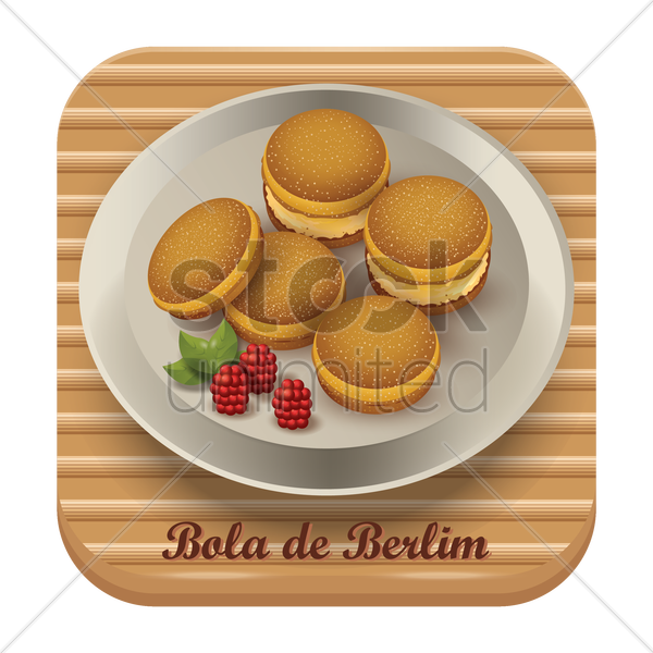 bola de berlim vector graphic