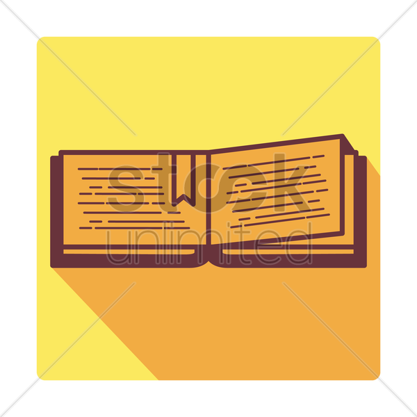 Free book icon vector graphic