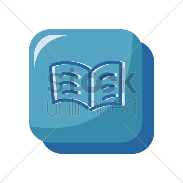 book icon vector graphic