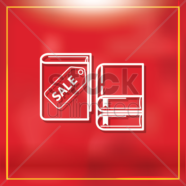 book on sale tag vector graphic