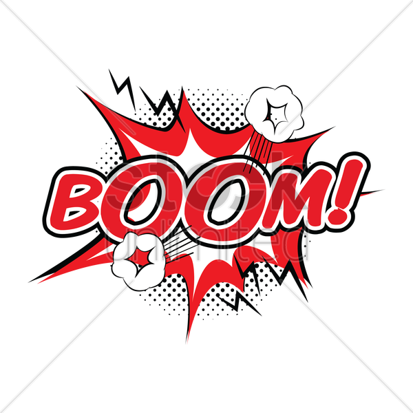 boom comic speech vector graphic
