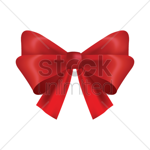 bow ribbon vector graphic