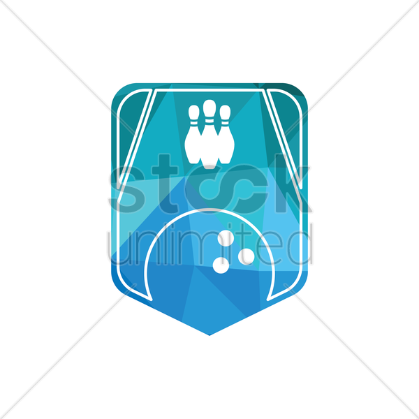 bowling emblem vector graphic