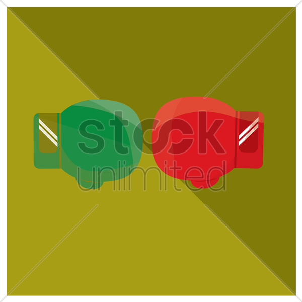 boxing gloves vector graphic