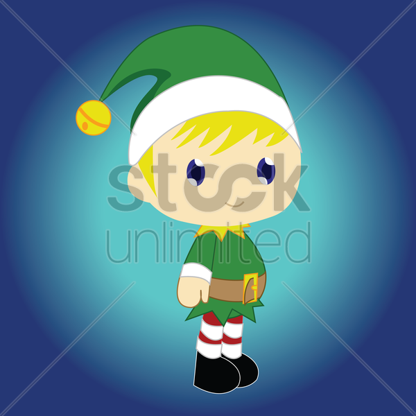 Free boy in elf costume vector graphic