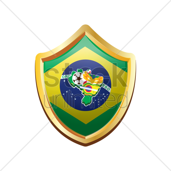 brazil badge with brazil map vector graphic