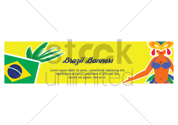 brazil banner vector graphic