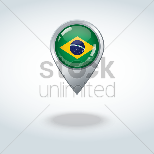 brazil flag icon vector graphic