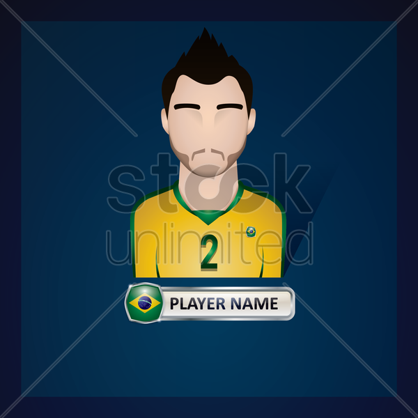brazil football player vector graphic