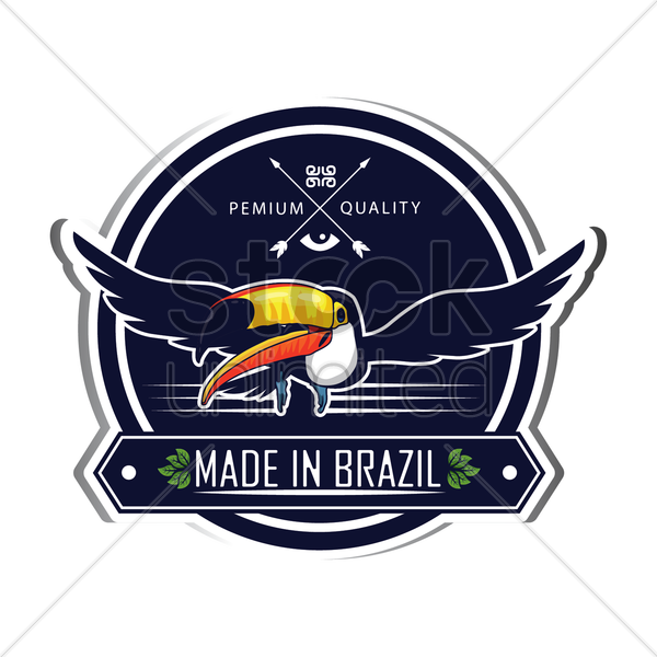 brazil label vector graphic