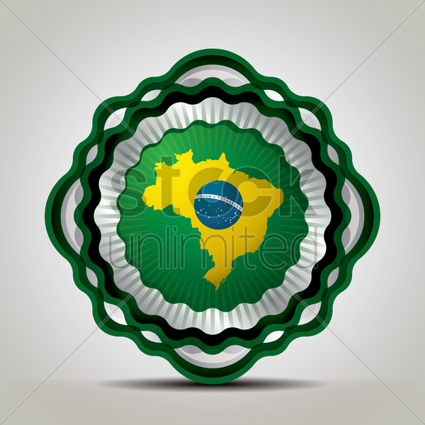 brazil map icon vector graphic
