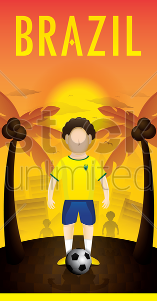 brazil poster vector graphic