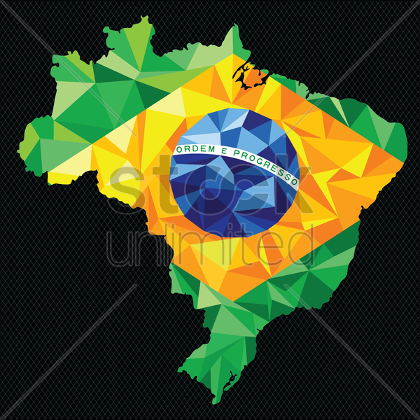 brazil state map vector graphic