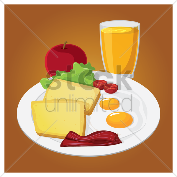 breakfast vector graphic