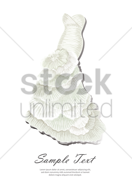 bride wedding gown poster vector graphic