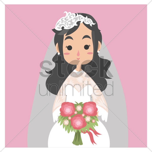 bride vector graphic
