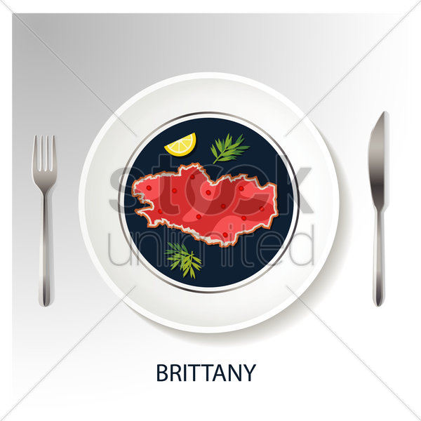brittany map vector graphic