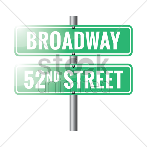 broadway road sign vector graphic