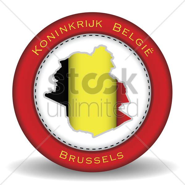 brussels map sticker vector graphic