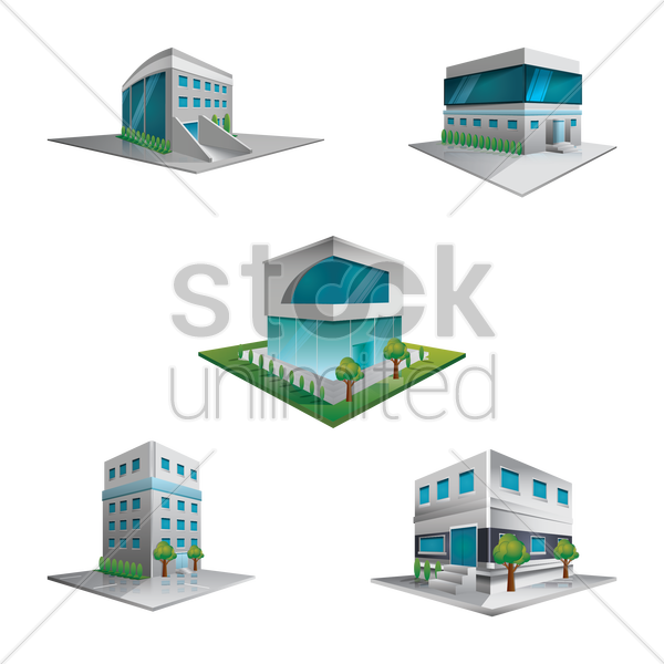 buildings and structures vector graphic