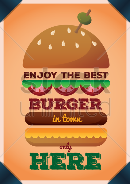 burger poster vector graphic