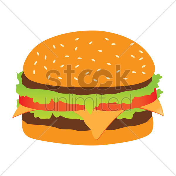 burger vector graphic