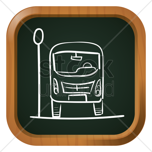 bus icon vector graphic