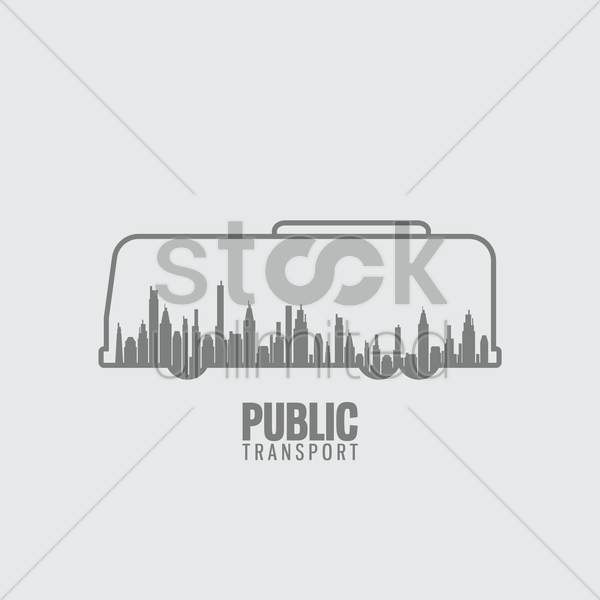 bus public transport vector graphic