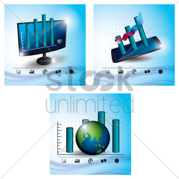 business analysis icons vector graphic