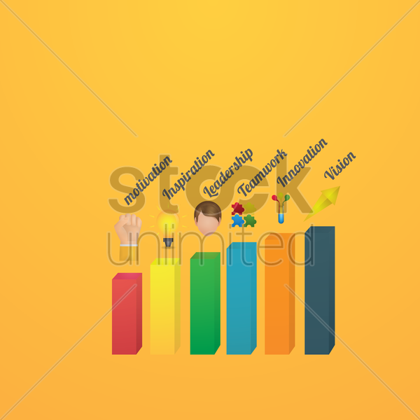 business bar graph vector graphic