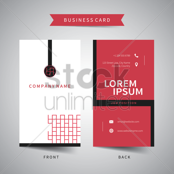 business card template vector graphic
