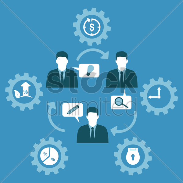 Free business concept and icons vector graphic