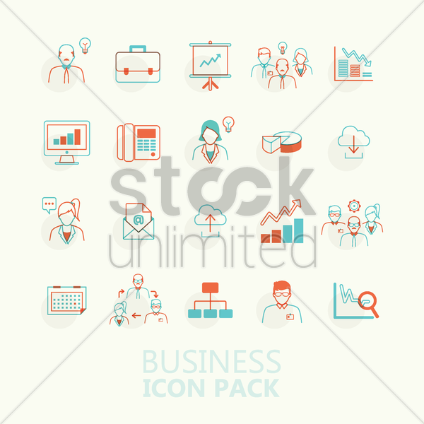 Free business icon pack vector graphic