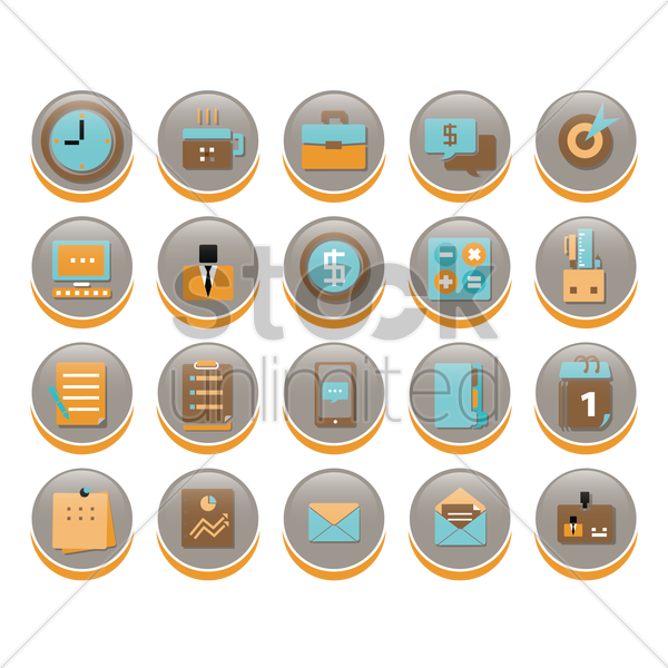 business icons vector graphic