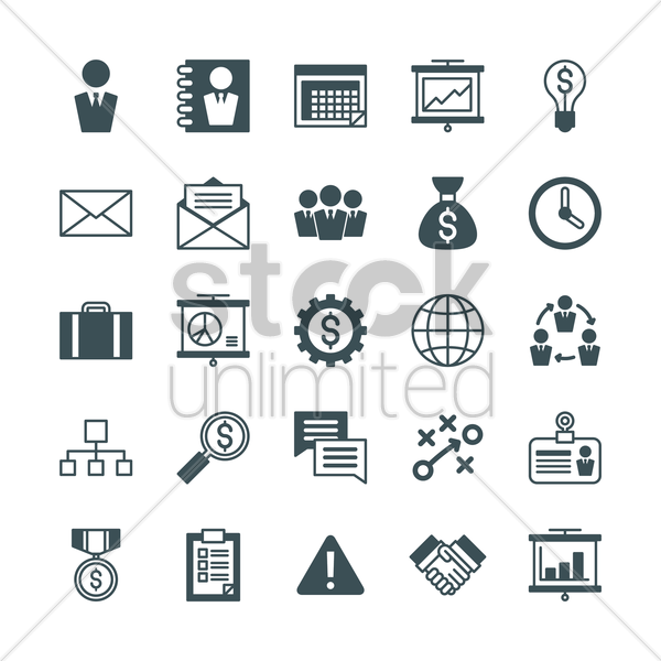Free business icons vector graphic