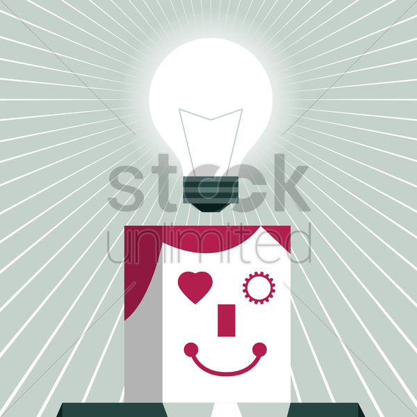 business idea concept vector graphic