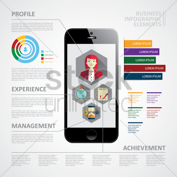 business infographic elements vector graphic